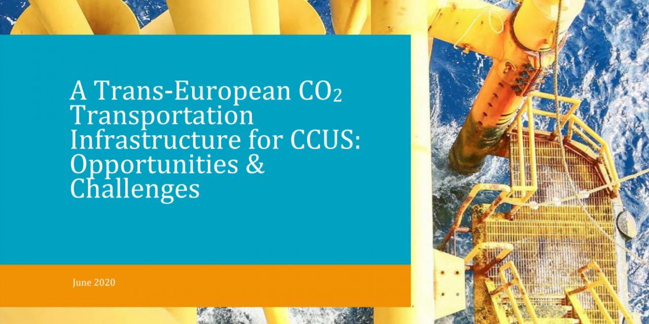 A Trans-European CO2 Transportation Infrastructure for CCUS: Opportunities & Challenges