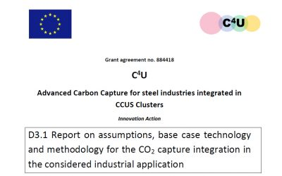 D3.1 Report on assumptions, base case technology and methodology for the CO2 capture integration in the considered industrial application