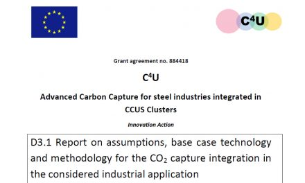 D3.1 Report on assumptions, base case technology and methodology for the CO<sub>2</sub> capture integration in the considered industrial application