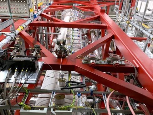 Inside from steel plant